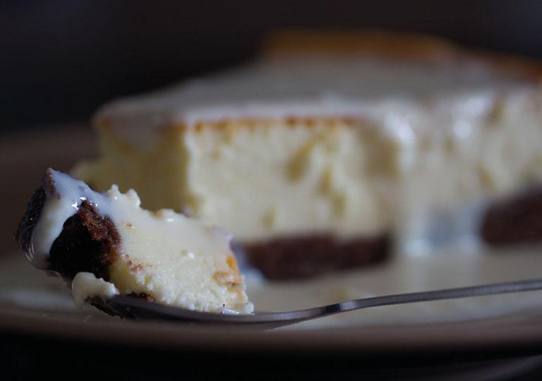 Terrine de chocolat blanc avec sa sauce au choco