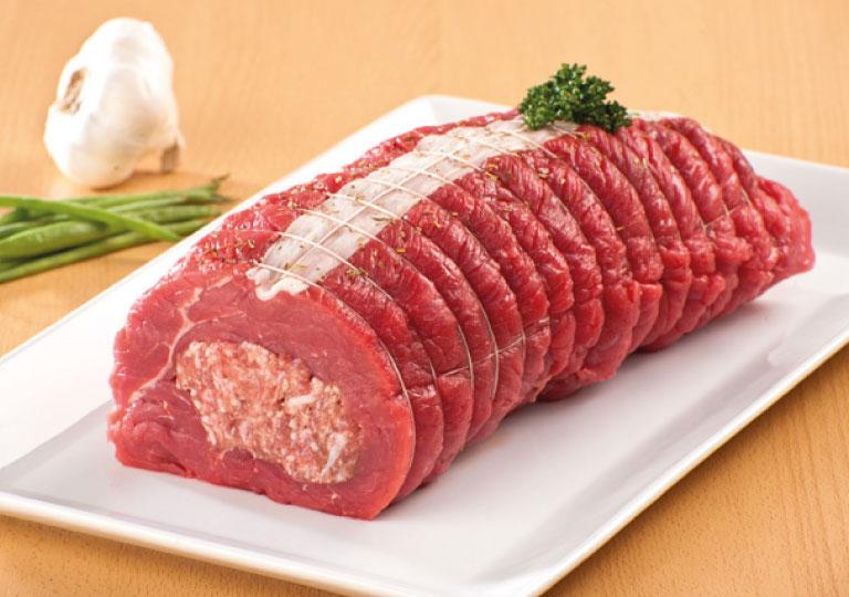 Rôti de bœuf farci au providence d'Oka