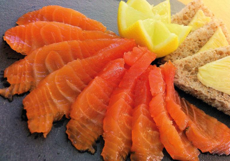 Gravelax de saumon aux agrumes