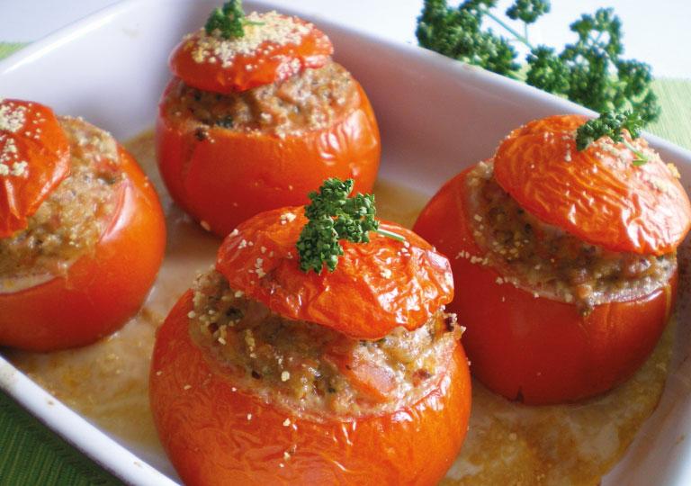 Tomates Farcies au bœuf et au porto