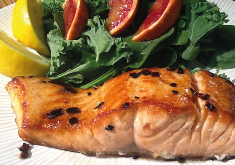 Saumon à l'érable et au gingembre